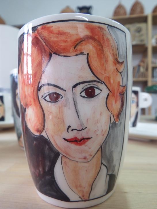 Bicchiere Donna dai capelli rossi