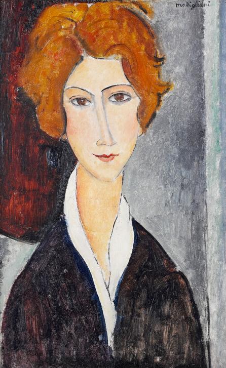 Donna con i capelli rossi (A. Modigliani)